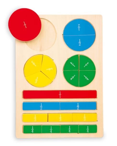 Didaktická hračka - zlomky Legler