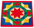 Dřevěná mozaika na desce