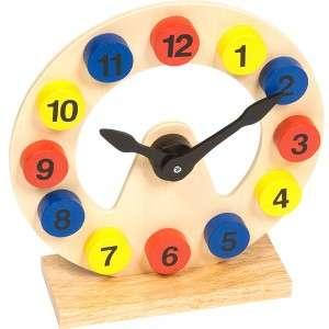 Dřevěné hodiny - pomůcka k výuce BIGJIGS