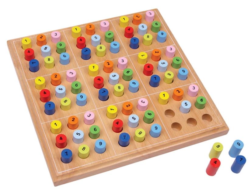 Dřevěné sudoku pro děti Legler