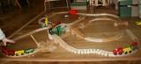 Dřevěné vláčky - inspirace zapojení kolejniček-hadů od paní Ivy