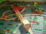 Dřevěné vláčky - inspirace Dva visuté mosty a dvojtunel BigJigs