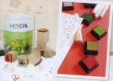 HEYDA Dřevěná razítka - Kytičky (7 ks)