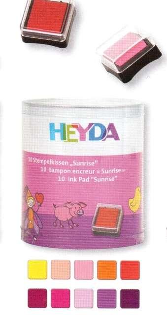 HEYDA Razítkovací polštářky - holčičí sada Svítání (10 ks)