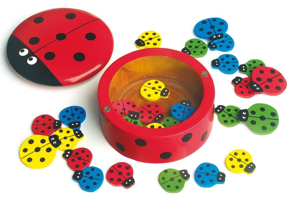 Hra BERUŠKY - počítání, barvičky, blechy Legler