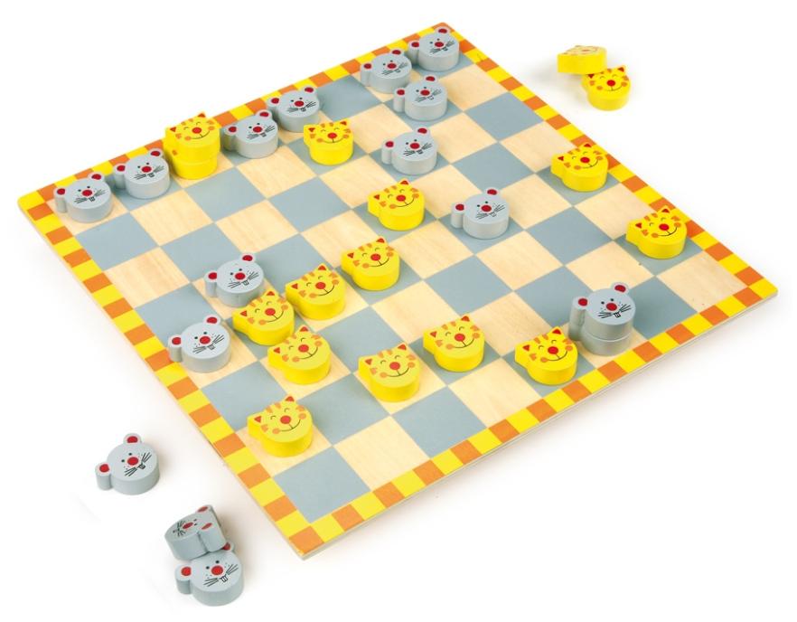Hra kočka a myš (dáma pro děti) Legler