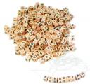 Korálky - dřevěné kostičky s písmenky 300 ks