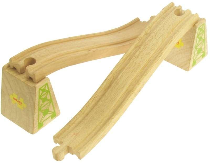 BigJigs Nadjezdové koleje s nosníky - dřevěné vláčky