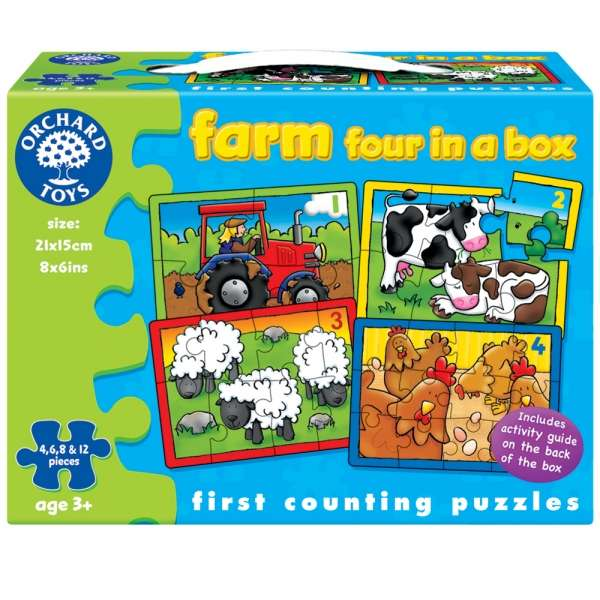 Orchard Toys puzzle FARMA 4 v 1