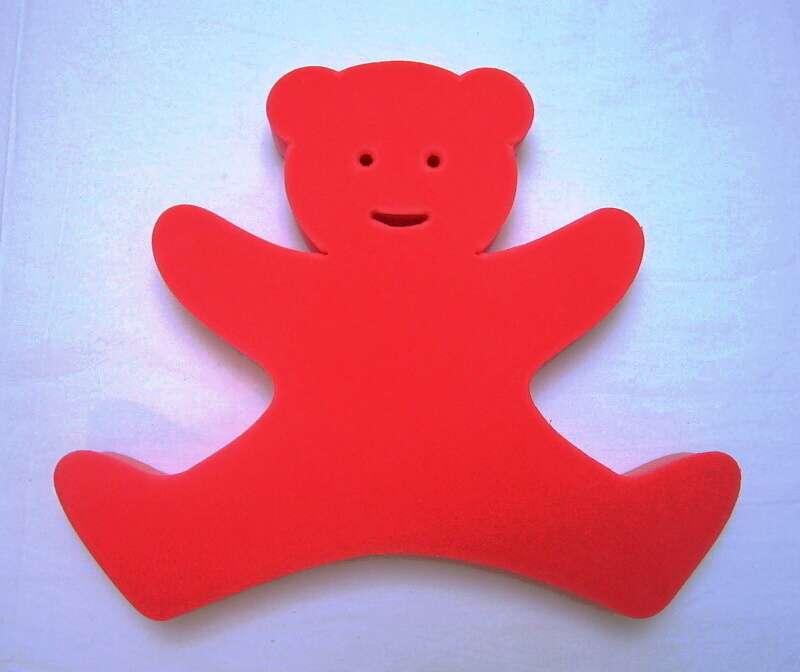 Plavecká deska Medvídek - červený DENA