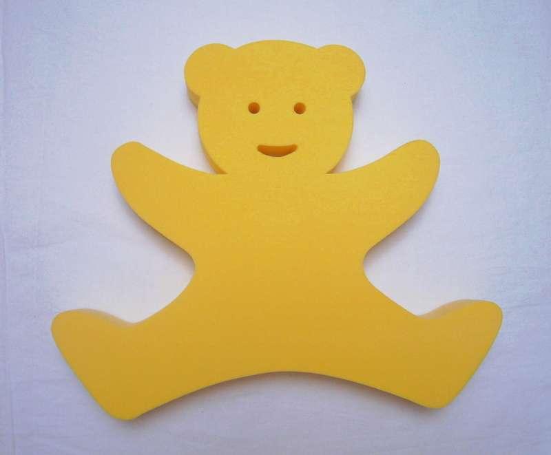 Plavecká deska Medvídek - žlutý DENA