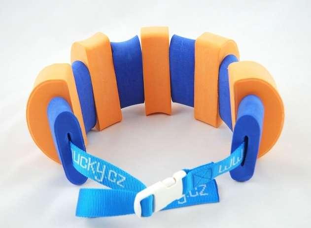 PLAVECKÝ PÁS (11 dílků) - oranžovo-modrý Aronet