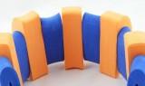 PLAVECKÝ PÁS (13 dílků) - oranžovo-modrý