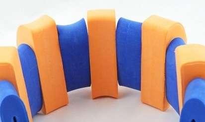 PLAVECKÝ PÁS (13 dílků) - oranžovo-modrý Aronet