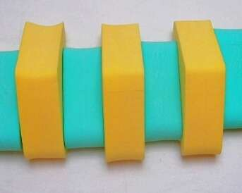 PLAVECKÝ PÁS 130 cm - zelená-žlutá DENA