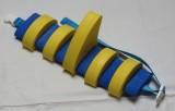 PLAVECKÝ PÁS S PLOUTVÍ (11 dílků) - žluto-modrý