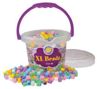Korálky XL - 950 ks pastelové barvy (zažehlování, mozaika) Playbox