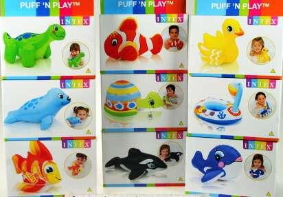 Nafukovací hračky do vody - mix Intex