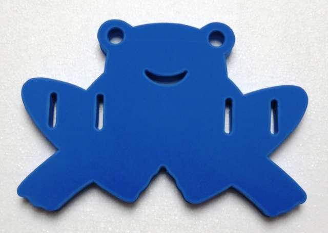DENA, plavací deska ŽABKA - modrá
