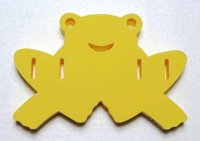 DENA, plavací deska ŽABKA - žlutá