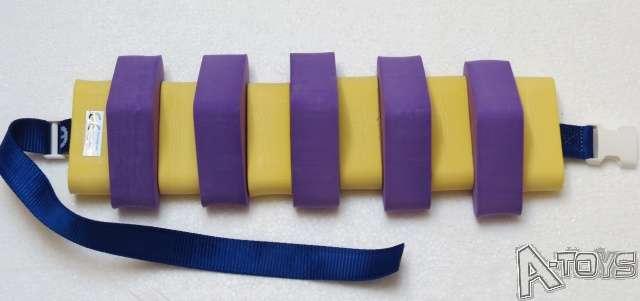 Dena PLAVECKÝ PÁS 11 dílků, fialovo-žlutý