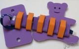Dena PLAVECKÝ PÁS 11 dílků, oranžovo-fialový