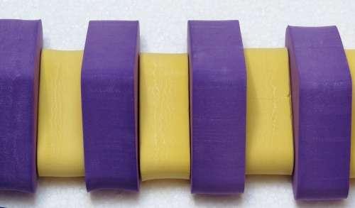 Dena PLAVECKÝ PÁS ježek 13 dílků, fialovo-žlutý