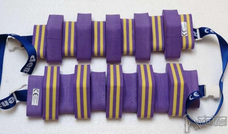 Dena PLAVECKÝ PÁS PRUH 11 dílků, fialovo-žlutý