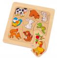 Dřevěná skládačka - Zvířátka a jejich potrava