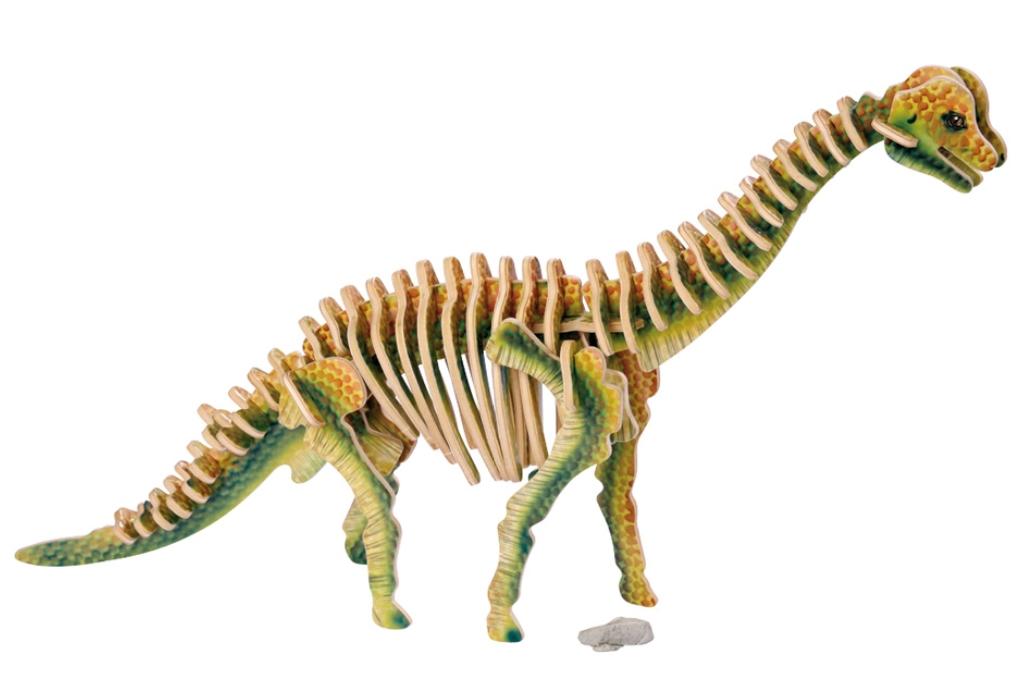 Dřevěné 3D puzzle - dinosaurus Legler