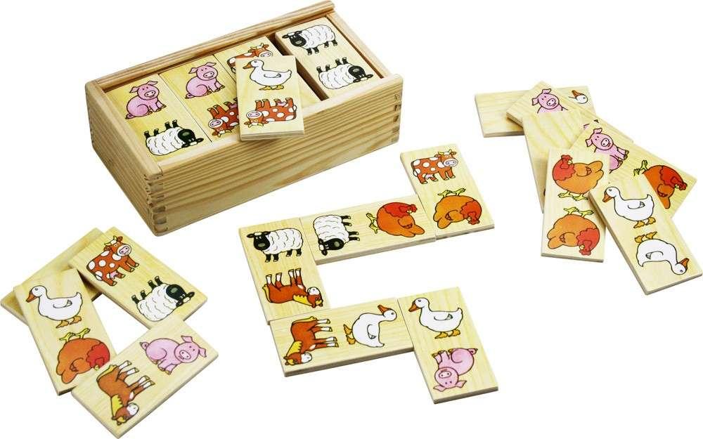 Dřevěné domino - FARMA BIGJIGS
