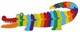 Dřevěné puzzle abeceda - Krokodýl 56 cm