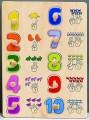Dřevěné puzzle - čísla