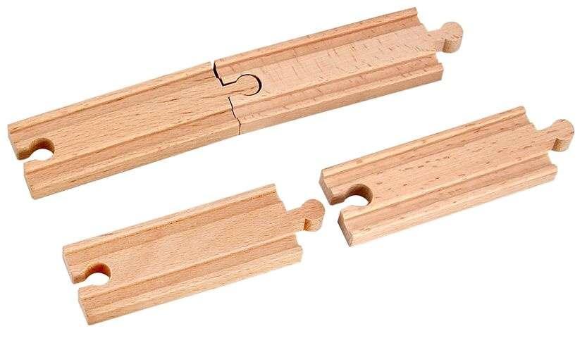 Dřevěné rovné koleje krátké 5 cm - 4 ks