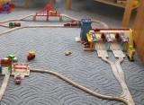 Dřevěné vláčky - inspirace Hlavní nádraží BigJigs - detail