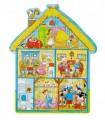Dřevěné puzzle - Domeček, 43 dílků