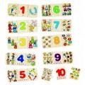 Výukové dřevěné puzzle - Počítání a logika