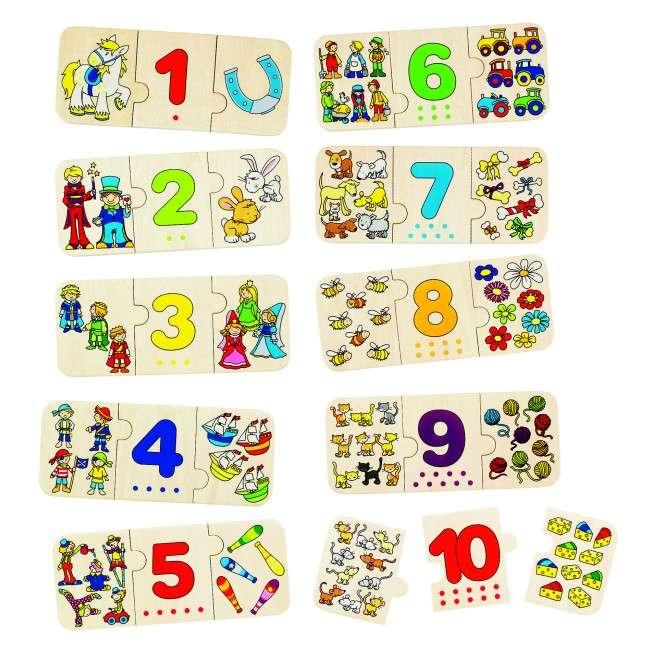 GOKI, Výukové dřevěné puzzle - Počítání a logika