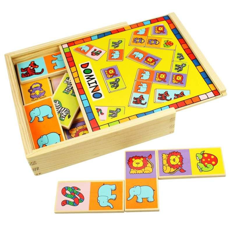 Hry ze dřeva - domino Divoká zvířátka BIGJIGS
