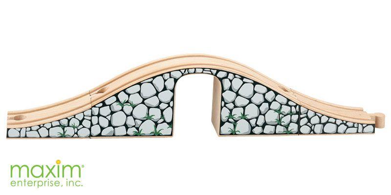 Jednoduchý kamenný most - Maxim dřevěné vláčkodráhy