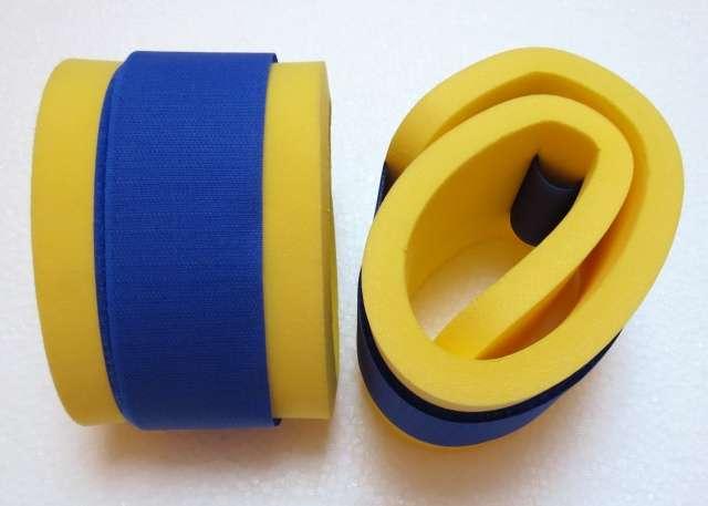 Nadlehčovací rukávky - žluté s modrým DENA