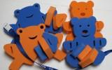 Plavecké pomůcky - tip na kombinace oranžovo-modrá kombinace sestavte si vlastní pás