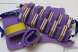 Plavecké pomůcky - tip na kombinace žluto-fialová kombinace pruh