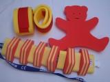 Plavecké pomůcky - tip na kombinace další žluto-červená kombinace