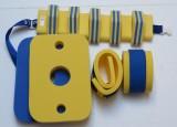 Plavecké pomůcky - tip na kombinace žluto-modrá - pás, deska Klasik, rukávky
