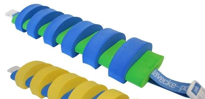 PLAVECKÝ PÁS (13 dílků) - modro-zelený Aronet