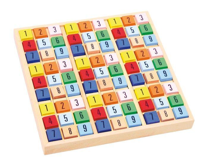 Dřevěné sudoku pro děti - kostičky Legler