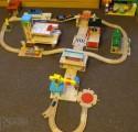 Dřevěné vláčky - inspirace vláčkodráha-autodráha 2