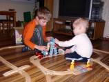 Dřevěné vláčky - inspirace Jednoduchá vláčkodráha 2