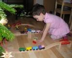 Dřevěné vláčky - inspirace Vláčkodráhy baví i holčičky :-)